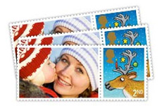 Personalised Christmas photo gift Stamps